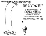The Giving Tree - Classroom Donations
