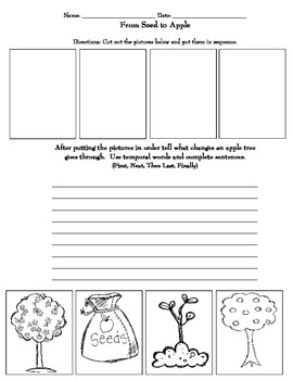 """The Giving Tree"" Comprehension Activities and 2 Sequencing Activities."
