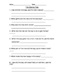 The Giving Tree Comprehension Questions