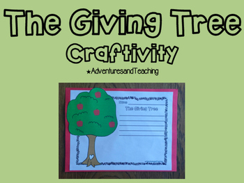 The Giving Tree Craftivity
