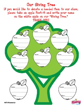 picture about The Giving Tree Printable Worksheets named The Delivering Tree Donation Chart: Hence Lovely! (Excellent for TK , K, 1st)