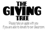 The Giving Tree Donation sign