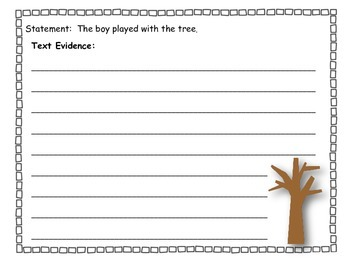 The Giving Tree:  Finding Text Evidence  RL.3.1