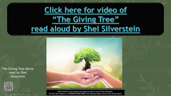 The Giving Tree Holiday Kindness Lesson w 3 videos Character Ed PBIS