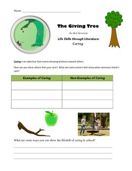 The Giving Tree - Life Skills Through Literature: Caring