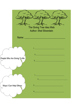 The Giving Tree - Preteaching Web