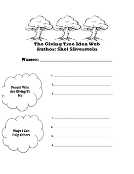 The Giving Tree - Preteaching Web (Colorless)