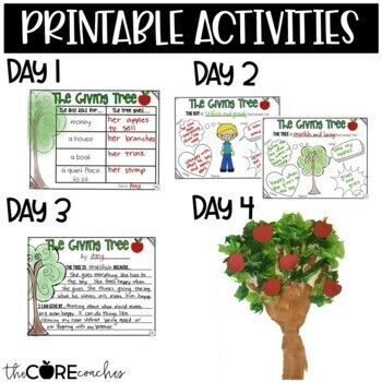 The Giving Tree: Interactive Read-Aloud Lesson Plans and Activities
