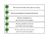 The Giving Tree Sequencing Sentences
