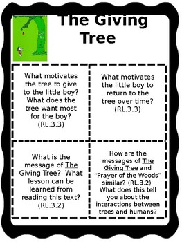The Giving Tree Text Talk