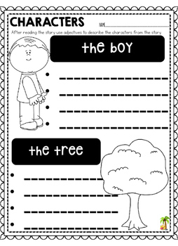 The Giving Tree Worksheets and Resources
