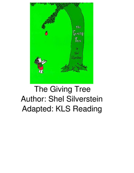 The Giving Tree - adapted book picture supported text visu