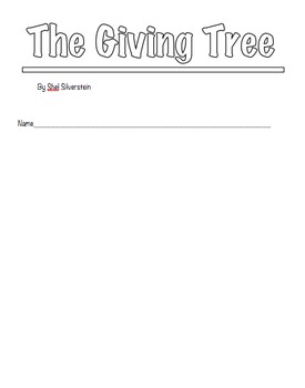 The Giving Tree booklet
