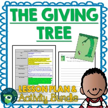 The Giving Tree by Shel Silverstein Lesson Plan and Activities