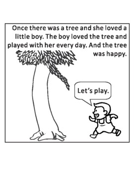 The Giving Tree by Shel Silverstein Sequencing Text Activity