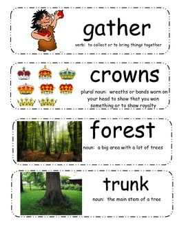 The Giving Tree by Shel Silverstein Vocabulary Cards