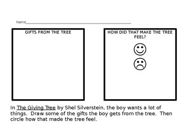graphic regarding The Giving Tree Printable Worksheets called The Offering Tree worksheet