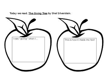 The Giving Tree worksheet