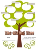 The Giving Tree writing activity: What do trees give us / Science