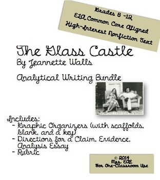 The Glass Castle Analytical Essay BUNDLE