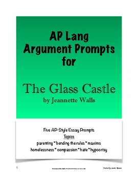 the glass castle essay prompts