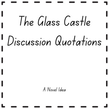 The Glass Castle Discussion Quotations