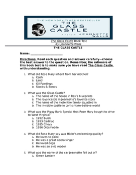 The Glass Castle Final Book Test