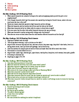 The Glass Castle - Guided Reading Questions or Quizzes