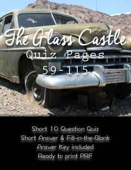 """""""The Glass Castle"""" Quiz pages 59-115"""