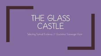 The Glass Castle Quotation Scavenger Hunt