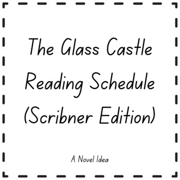 The Glass Castle Reading Schedule (Scribner)