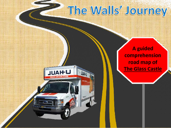 """The Glass Castle Lesson - """"Road Map"""" Comprehension & Scrapbook Project"""