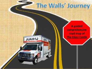 "The Glass Castle Lesson - ""Road Map"" Comprehension & Scrap"