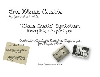 The Glass Castle Symbolism Graphic Organizer FREEBIE