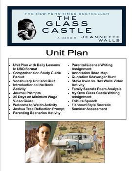 The Glass Castle Lesson Plans UBD Unit and Activites - Teacher's Bundle
