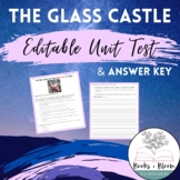 The Glass Castle Unit Test and Answer Key: Includes Editable Version!