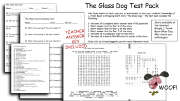 The Glass Dog Test Pack for L. Frank Baum Short Story