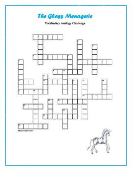 The Glass Menagerie: Analogy Vocabulary Crossword--Challenging!