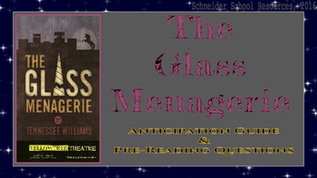 The Glass Menagerie Anticipation Guide and Pre-Reading Questions