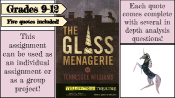 The Glass Menagerie Quote Analysis Assignment