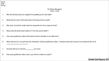 The Glass Menagerie Reading Quiz Bundle