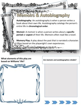 The Glass Menagerie Student Workbook