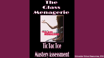The Glass Menagerie Tic Tac Toe Mastery Assessment
