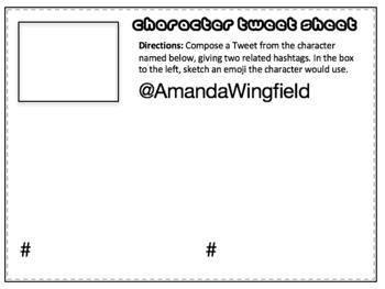 The Glass Menagerie Twitter-Style Activity: Bell-Ringers, Task Cards