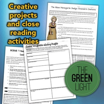 The Glass Menagerie Worksheets, Activities, and Projects