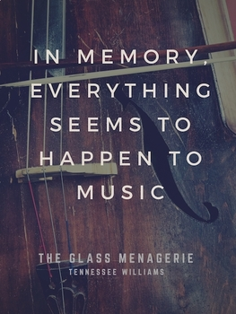 Tennessee Williams - The Glass Menagerie poster quotation