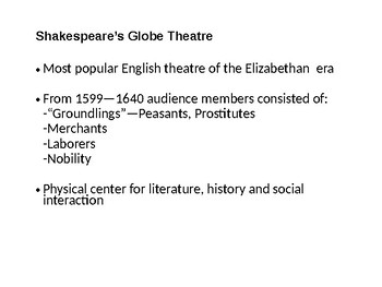 The Globe Theater Powerpoint