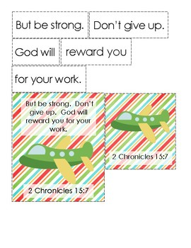 The Glorious Flight Bible Verse Printable (2 Chronicles 15:7)