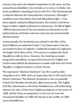 The Glorious Revolution Handout