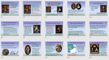 the glorious revolution in pictures smartboard powerpoint formats